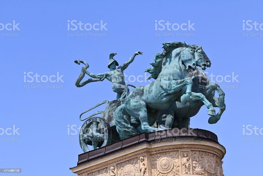 Chariot on millennium monument stock photo