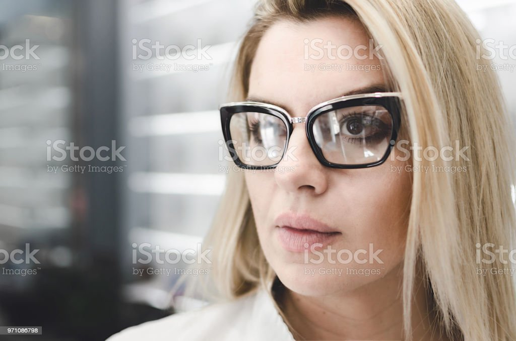 Charismatic, confident oculist stock photo