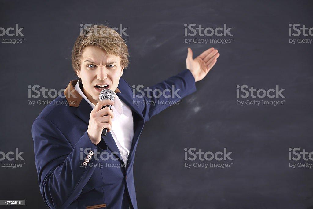 Charismatic speaker royalty-free stock photo