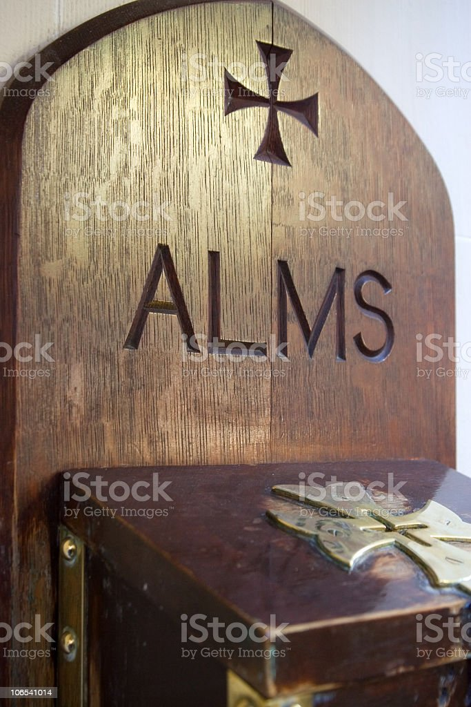 Charity - Alms for the poor stock photo