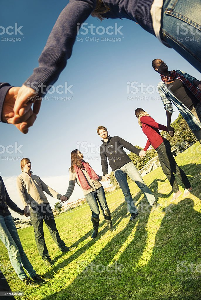 charity chain people - volunteer royalty-free stock photo