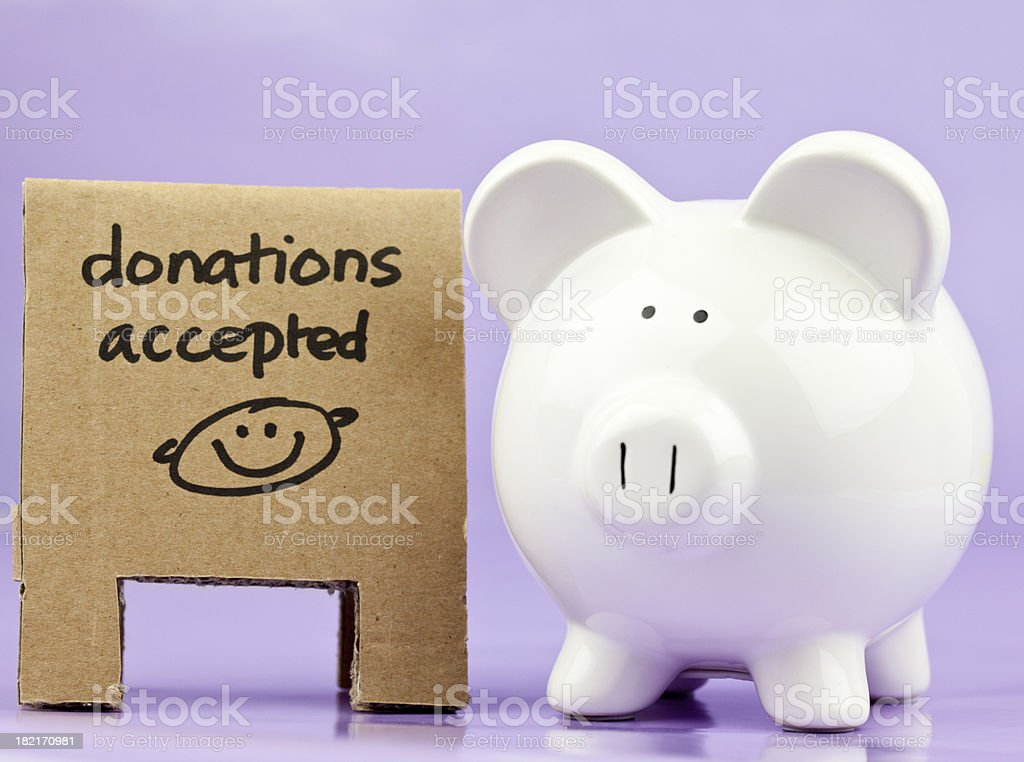 Charity Collection Pig Bank royalty-free stock photo