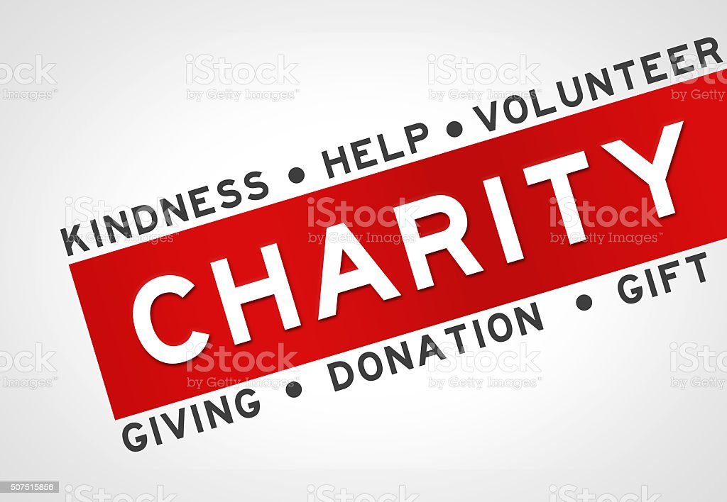 Charity - concept illustration background stock photo