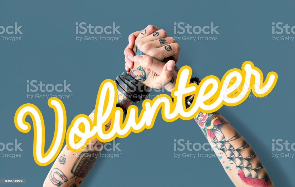Charity Cursive Writing Word Concept stock photo
