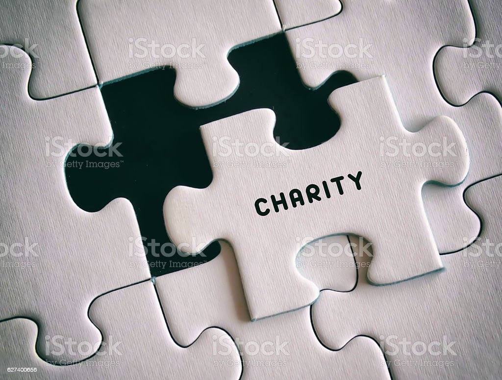 Charity - Puzzle stock photo