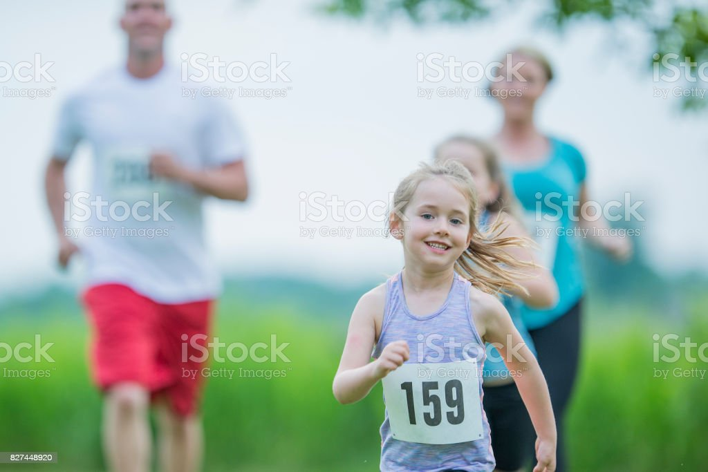 Charity Race stock photo