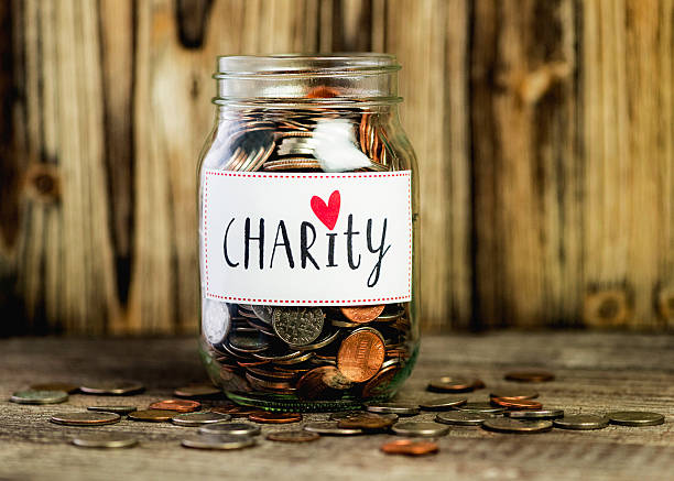 Charity Savings Jar stock photo