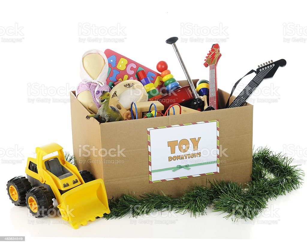 Charity Toys for Christmas stock photo