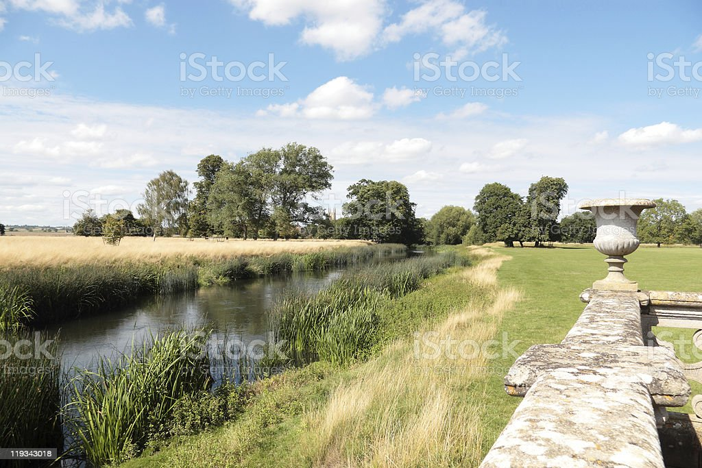 Charlecote Park and the River Avon, Warwickshire, England royalty-free stock photo