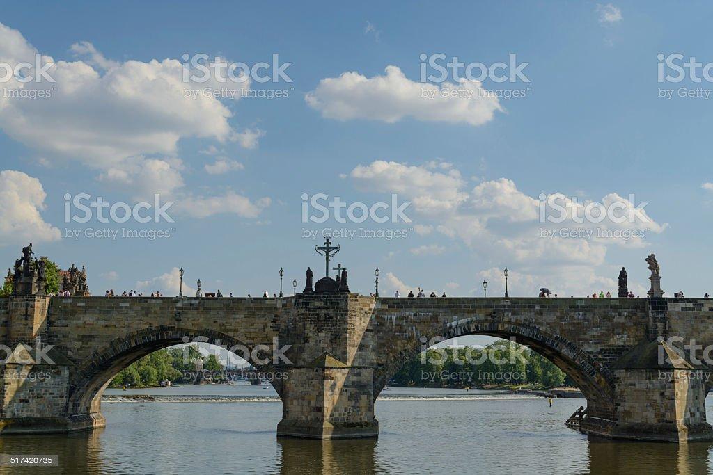 Ponte Carlos em Praga foto royalty-free