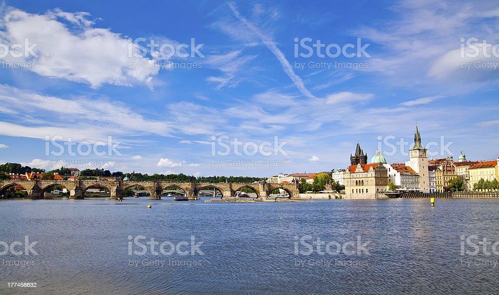 Charles Bridge - Prague royalty-free stock photo