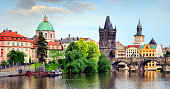 The Tower at Charles Bridge (Karluv Most), Prague, Czech Republic