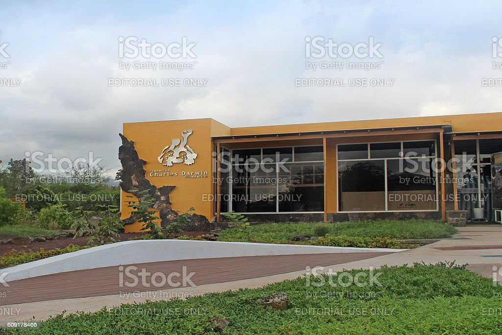 Charles Darwin Research Station stock photo