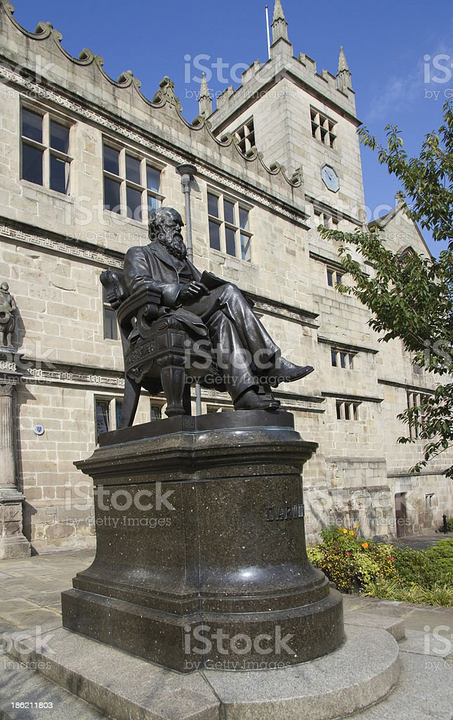 Charles Darwin Statue royalty-free stock photo