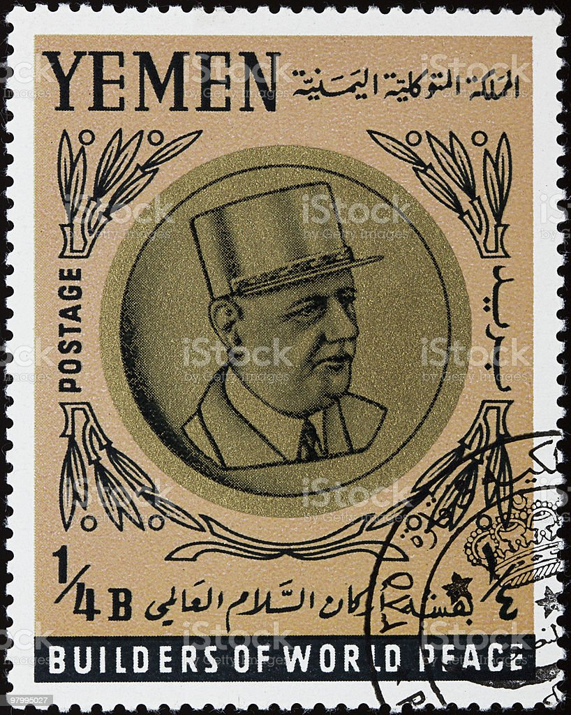 Charles de Gaulle stamp royalty-free stock photo