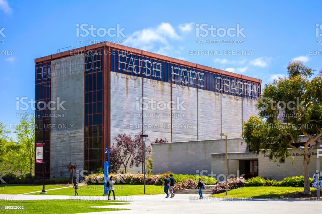 Charles Lee Powell Structural Research Laboratory in University of California San Diego, USA. stock photo