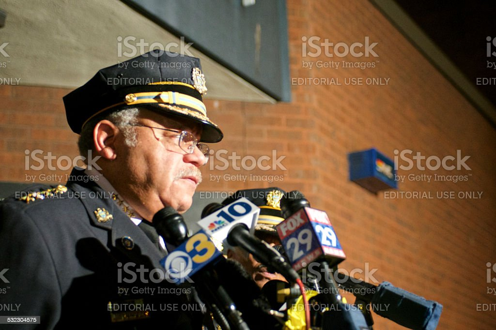 Charles Ramsey Philadelphia Police Commissioner Stock Photo