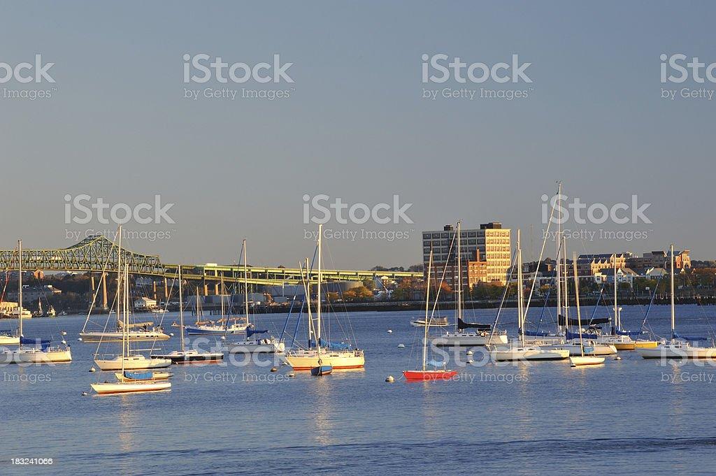 Charles River at Sunrise royalty-free stock photo
