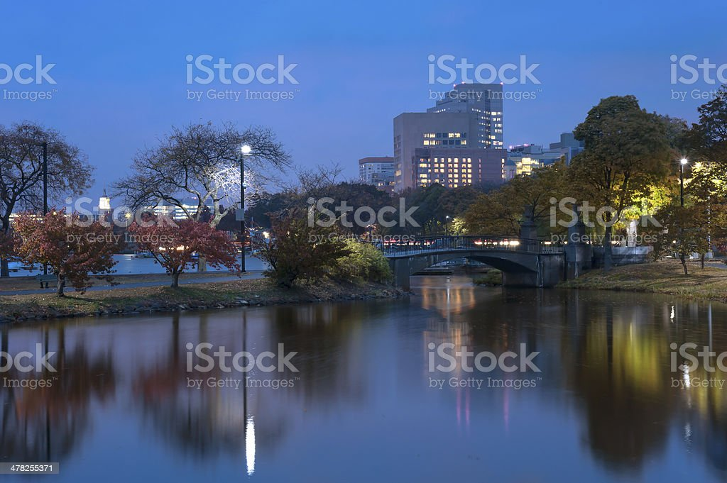 Charles river in Boston on a Autumn Afternoon royalty-free stock photo