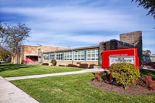 Charles Wacker  Elementary School,  Washington Heights, Chicago stock photo