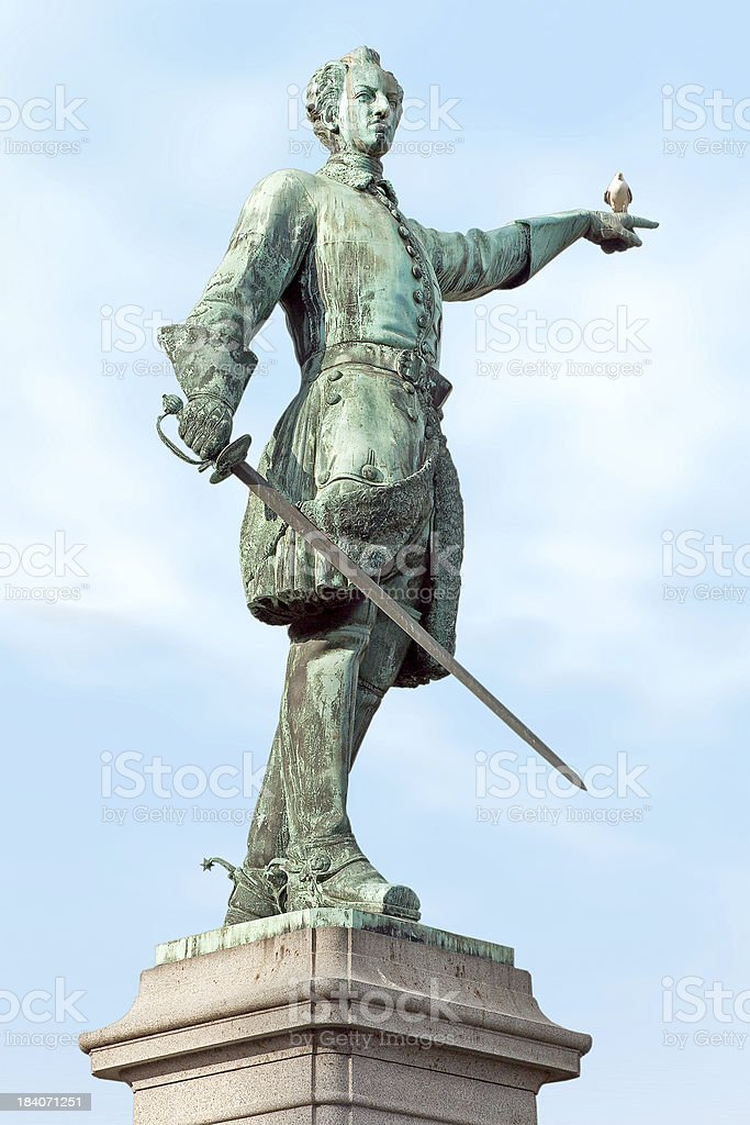 Charles XII of Sweden royalty-free stock photo