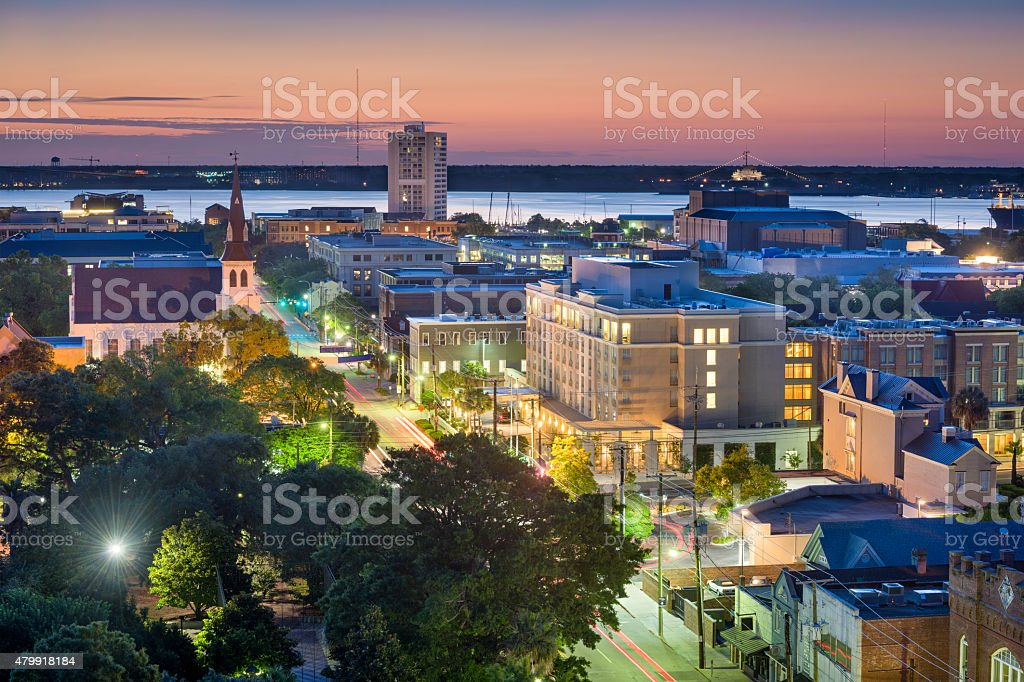 Charleston Cityscape stock photo