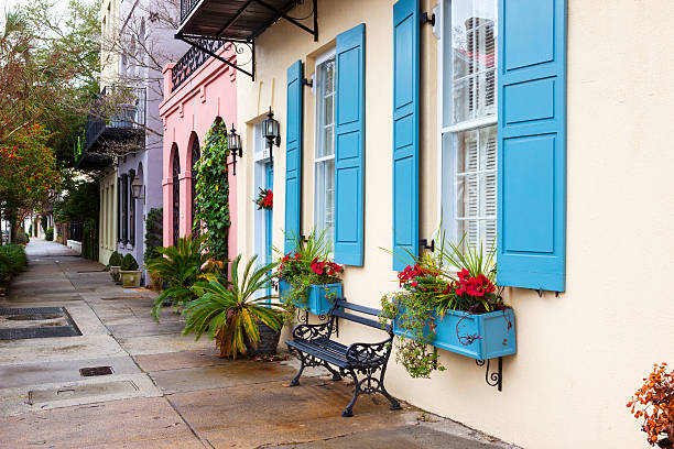 Charleston Historic Bay Street. – Foto