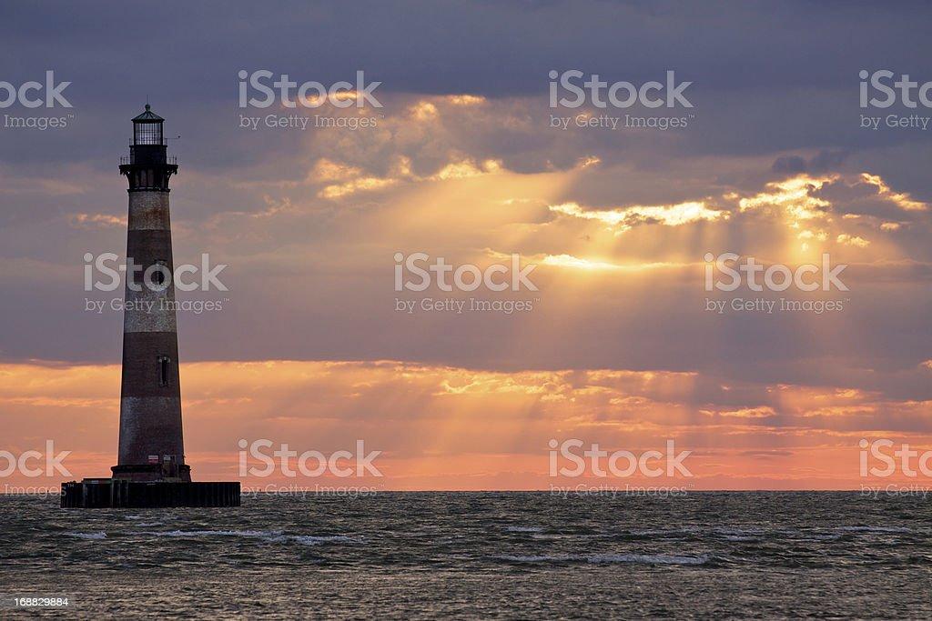 Charleston Morris Island Lighthouse stock photo
