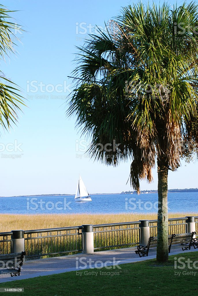 Charleston Sailboat stock photo