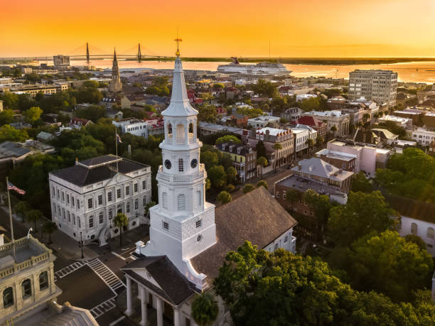 Charleston SC skyline Charleston SC skyline south carolina stock pictures, royalty-free photos & images
