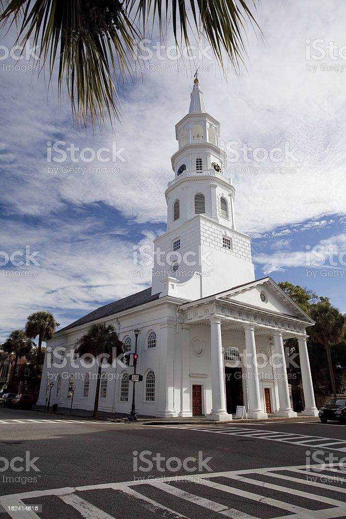 Charleston South Carolina church royalty-free stock photo
