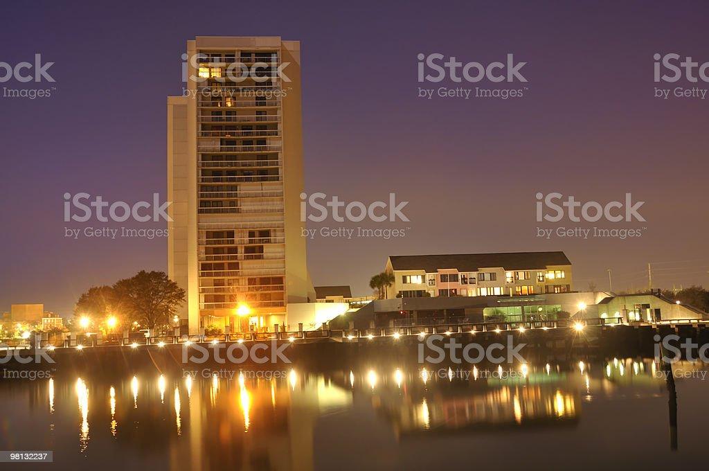 Charleston, South Carolina alto di notte foto stock royalty-free