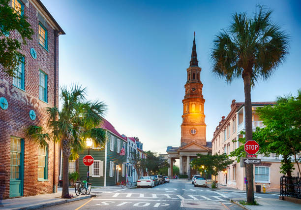 Charleston, South Carolina In The Evening stock photo