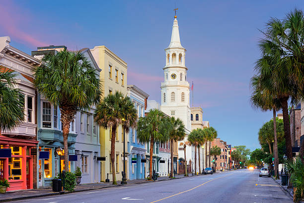 Charleston south Carolina Charleston, South Carolina, USA in the French Quarter. south carolina stock pictures, royalty-free photos & images