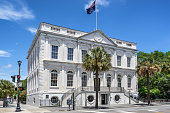 City Hall in Charleston in the state of South Carolina in USA