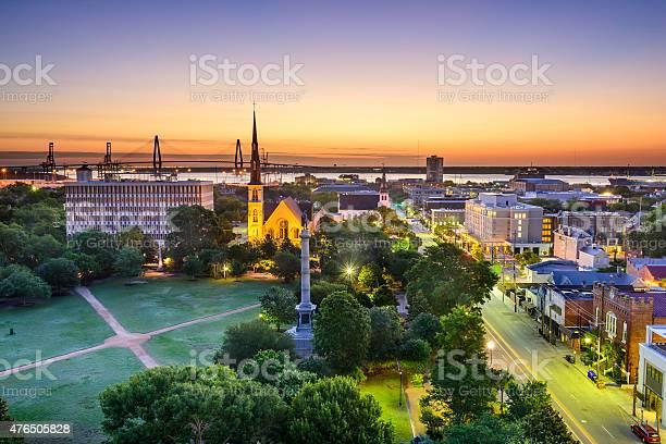 Charleston South Carolina Skyline Stock Photo - Download Image Now