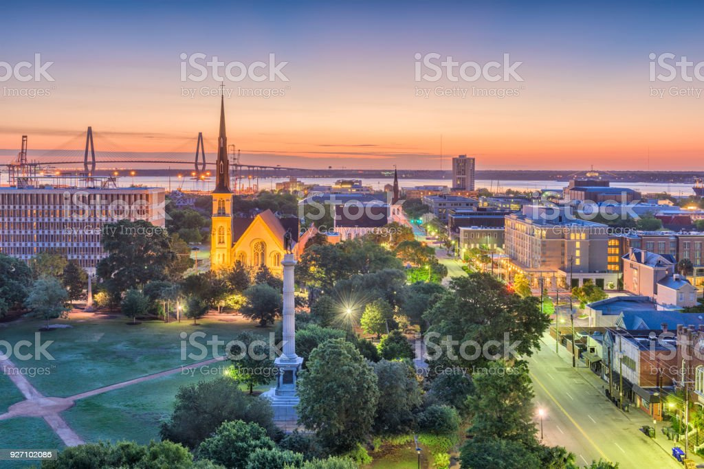 Charleston, South Carolina, USA Cityscape stock photo