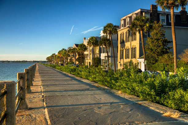 Charleston South Carolina Waterfront am Morgen – Foto