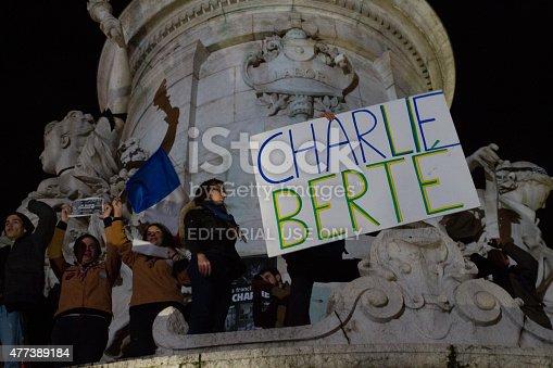 istock Charlie Hebdo peaceful ralley 477389184