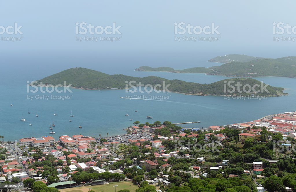 Charlotte Amalie, Saint Thomas Island, US Virgin Islands stock photo