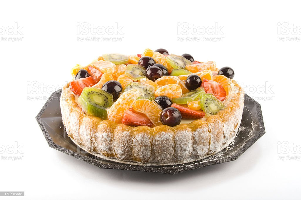 Charlotte fruit cake royalty-free stock photo
