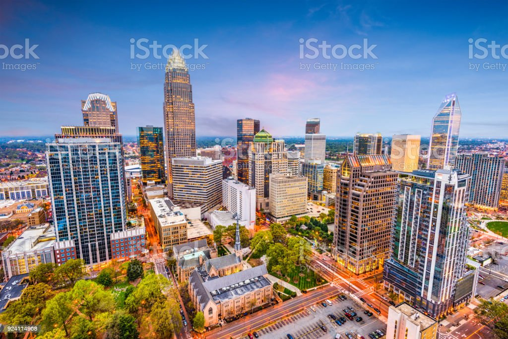 Charlotte, North Carolina, USA stock photo