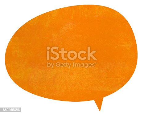 istock Charlotte orange speech globe 882465086