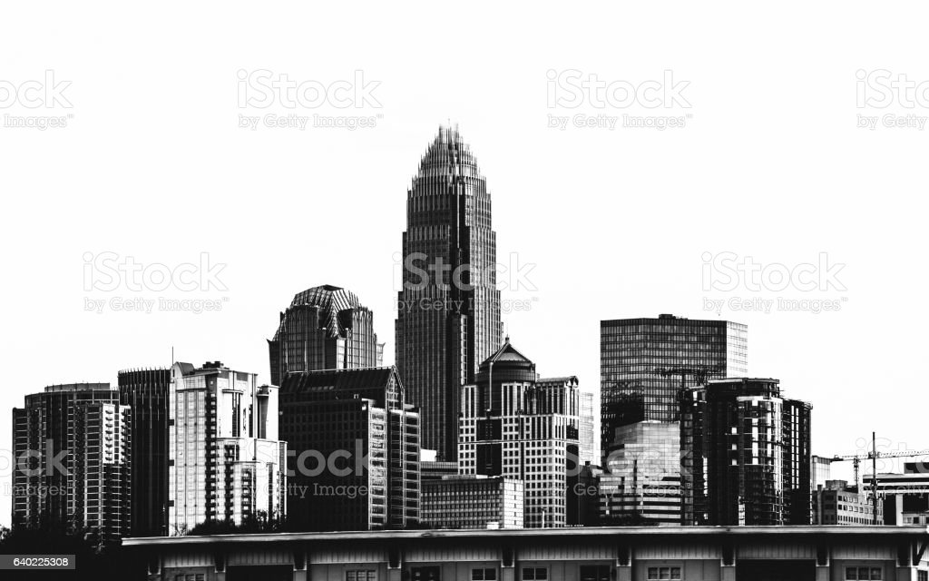 Charlotte skyline. stock photo
