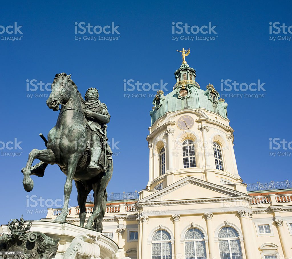 Charlottenburg Palace in Berlin Germany stock photo