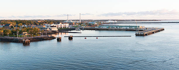 charlottetown cruise port panorama - prince edward island stock photos and pictures