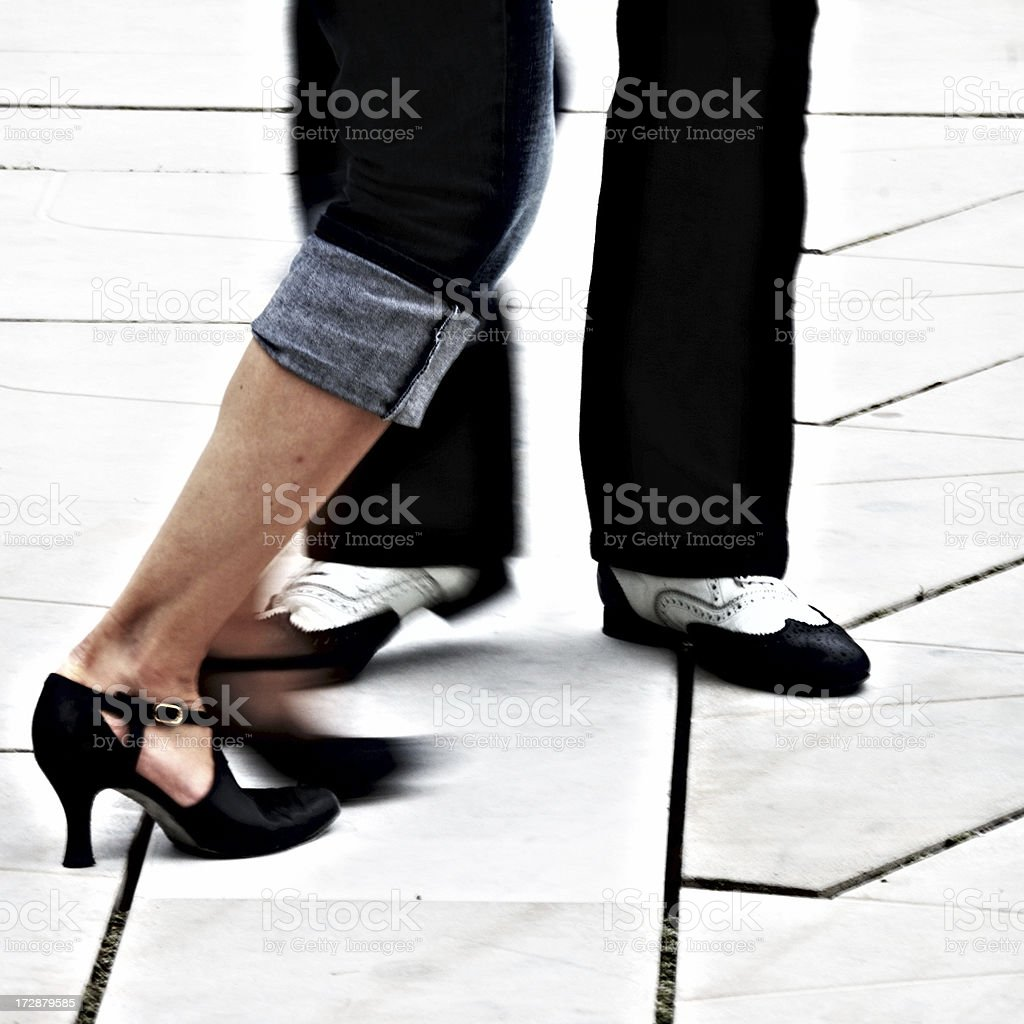 charlston dancing blur stock photo