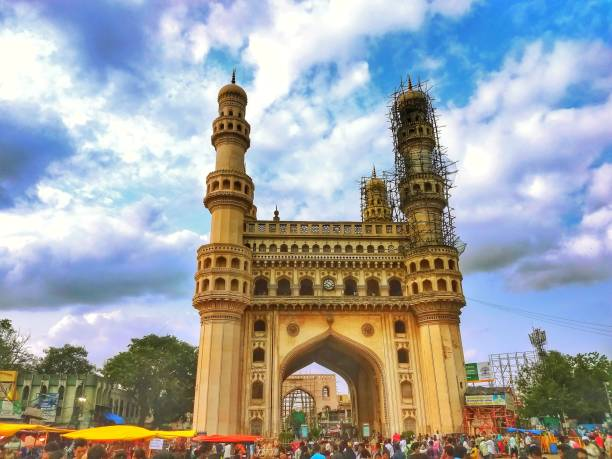 Charminar View from Hyderabad Charminar monument. char minar stock pictures, royalty-free photos & images
