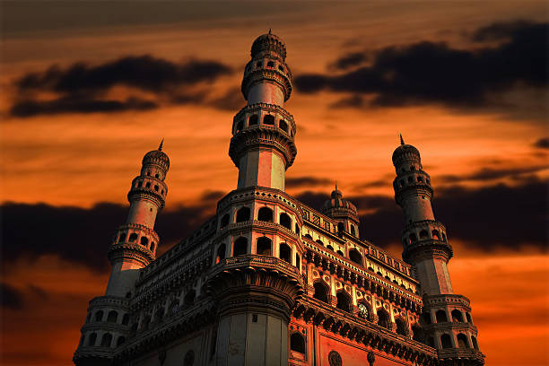 Charminar Charminar with dark Clouds in the background char minar stock pictures, royalty-free photos & images