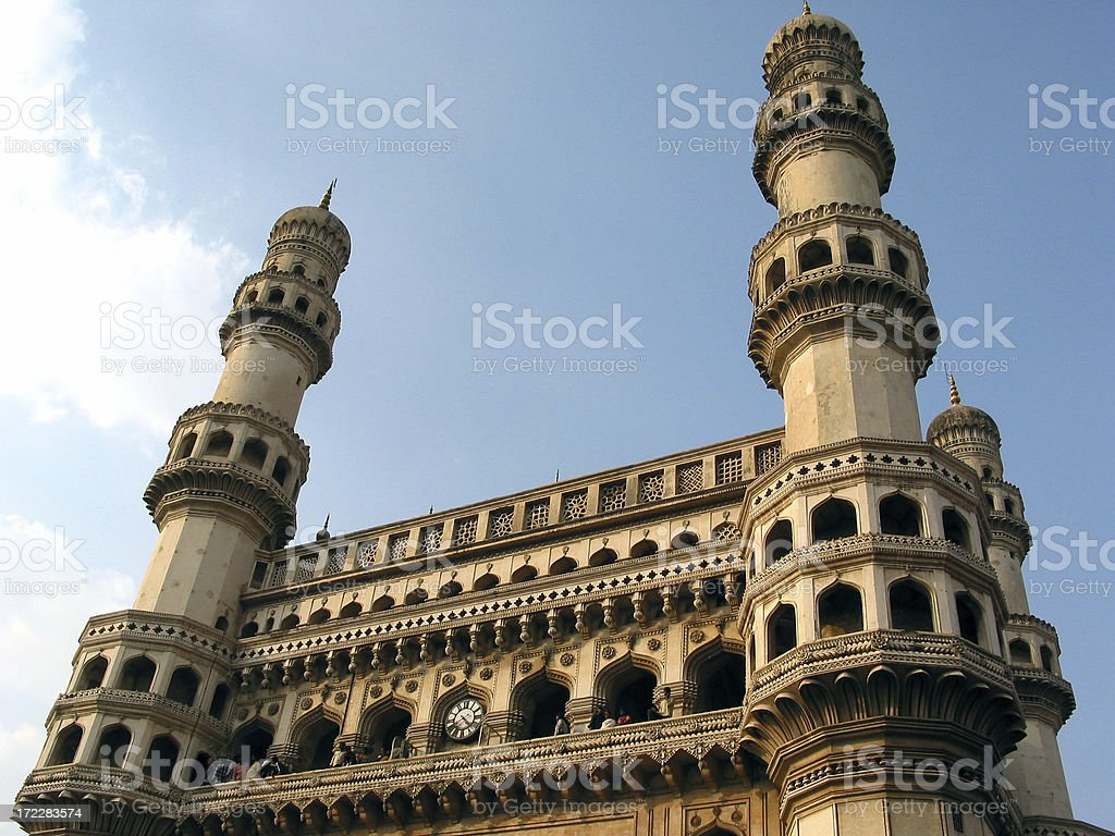 Charminar Towers Hyderabad, India stock photo